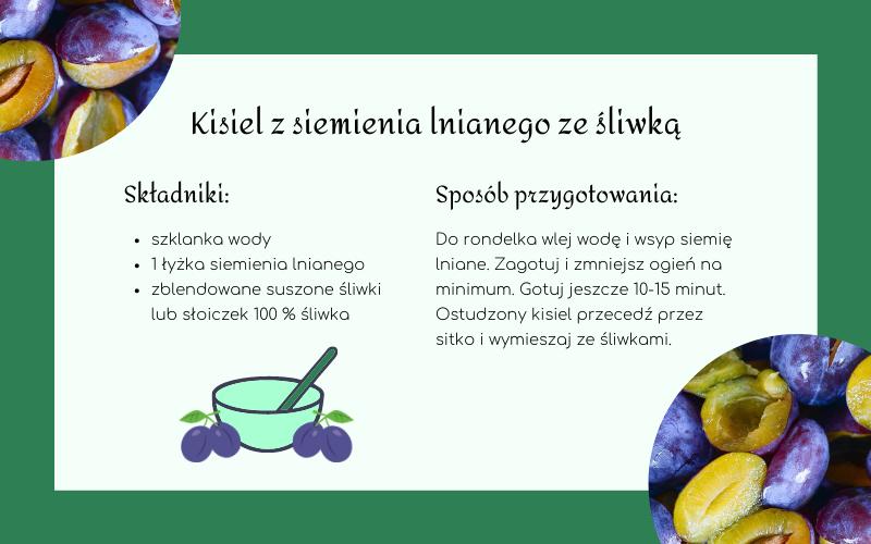 kisiel z siemienia lnianego na zaparcia u niemowląt