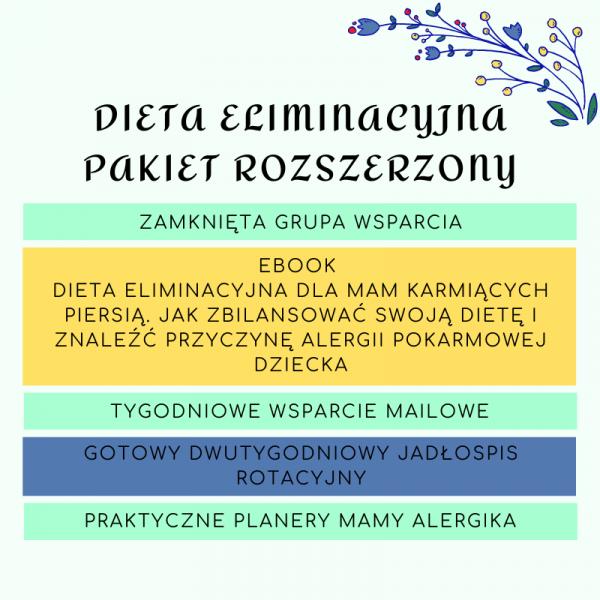 Pakiet diety eliminacyjnej, Dieta eliminacyjna dla mam karmiących piersią. Jak zbilansować swoją dietę i znaleźć przyczynę alergii pokarmowej dziecka, ebook o diecie eliminacyjnej, książka o diecie eliminacyjnej, jak szukać alergenów, jak znaleźć alergeny, dieta rotacyjna, dieta eliminacyjno-rotacyjna, grupa wsparcia