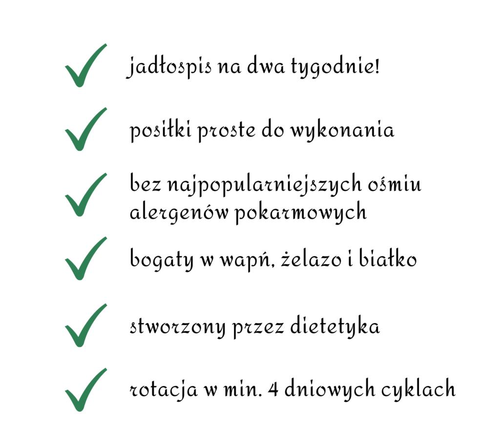 Gotowy jadłospis rotacyjny, jadłospis rotacyjny dla mamy karmiącej piersią, dieta rotacyjna jadłospis, dieta rotacyjna gotowy jadłospis