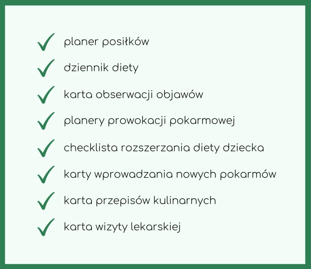 planer dla mamy alergika; planery w alergii; planer alergika; planer mamy alergika; alergia planery; dzienniczek diety mamy karmiącej piersią